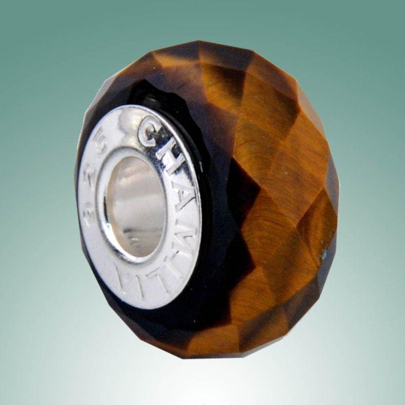 Authentic Chamilia Bead Tiger's Eye Golden Brown RETIRED!!! -- XA-1