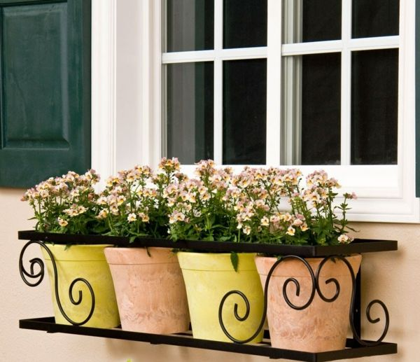 franz sischer balkon blument pfe fenster deko keramik metall fensterbank fenster. Black Bedroom Furniture Sets. Home Design Ideas