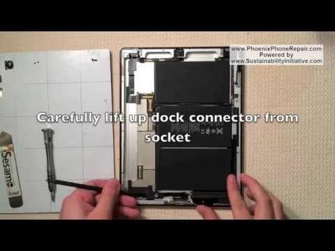 How To Fix Apple Ipad 2 Charging Port Apple Ipad 2 Dock Connector Replacement Removal Repair Ipad Repair Apple Ipad Ipad