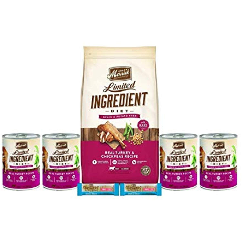 Merrick Limited Ingredient Dog Food Turkey 4lb Bag Plus 4 Real