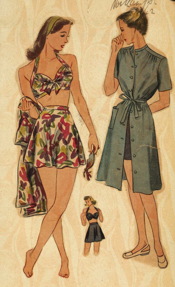1940 bathing suit pattern | 1940\'s Swimwear | Pinterest