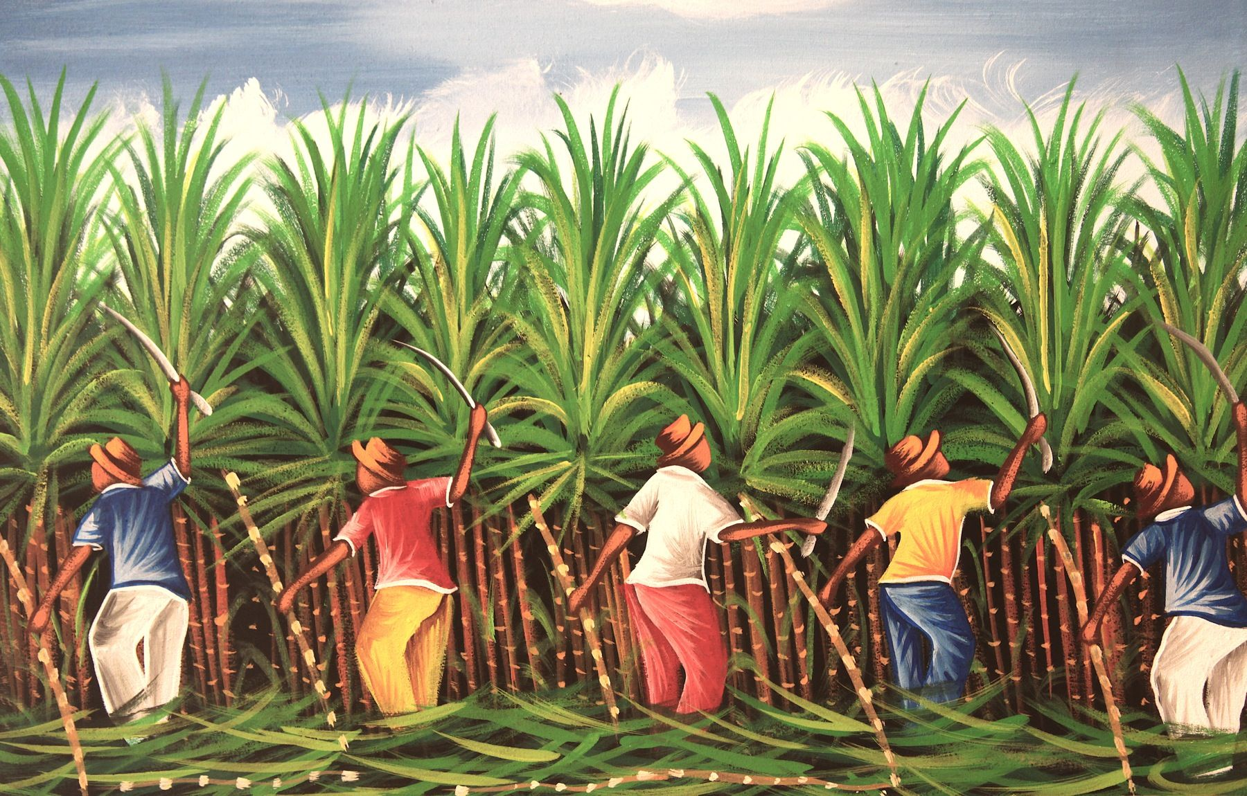 Sugar Cane Painting 20 x 24 from Project Esperanza Art