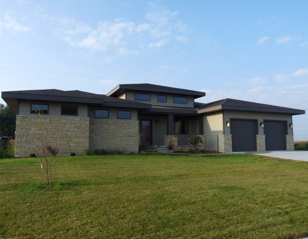 Contemporary Prairie Style Homes Type One Story Style Prairie