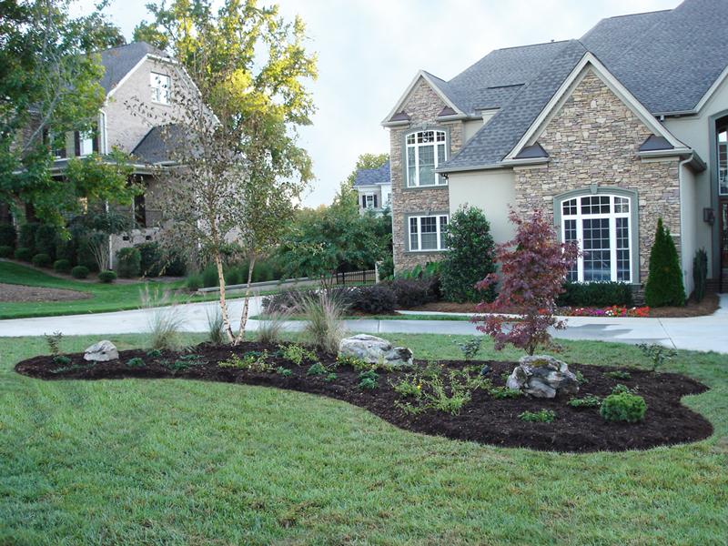 nice yard island gardening