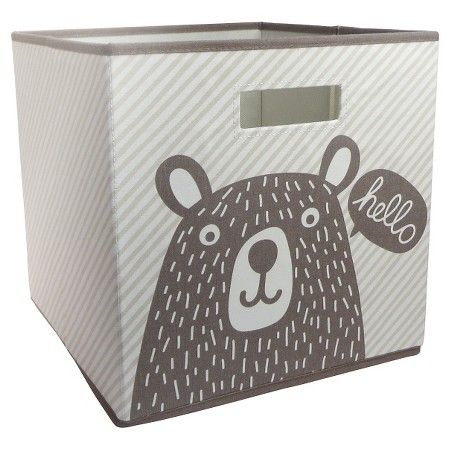 Hello Bear Fabric Cube Storage Bin (13 x13 ) - Pillowfort™  Target  sc 1 st  Pinterest & Hello Bear Fabric Cube Storage Bin (13