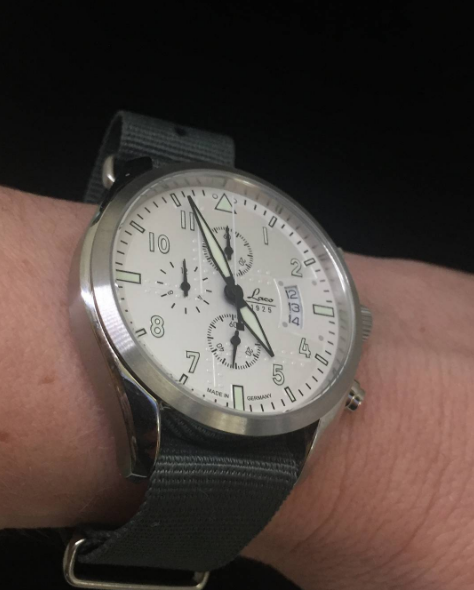Inspired by the first monocoque aircraft of the 20's and 30's - the Laco Seattle Chronograph. #Laco #Watches #Pageandcooper