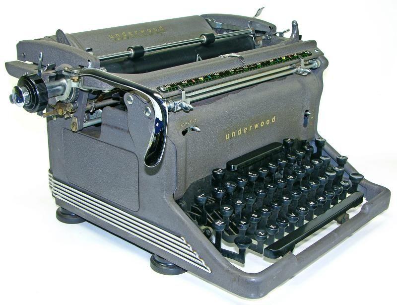 Image result for underwood typewriter