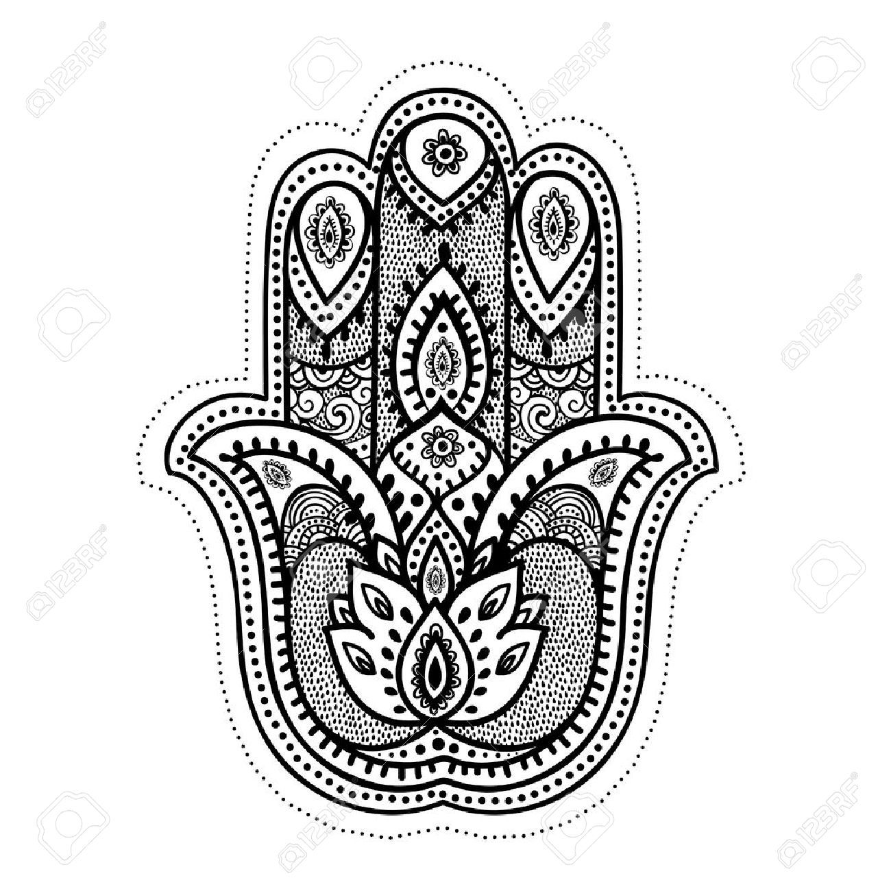 Hand buddha symbol gallery symbol and sign ideas 35369958 set of ornamental indian elements and symbols stock set of ornamental indian elements and symbols biocorpaavc