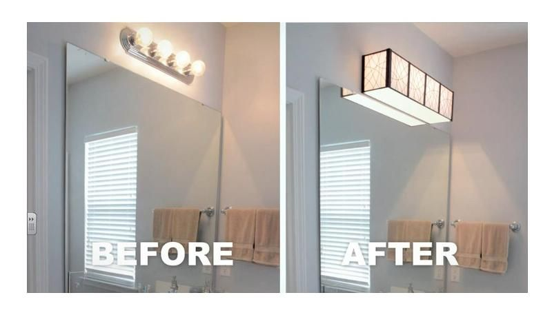 Install A Bathroom Light Yourself Louie Lighting Blog Makeover Diy