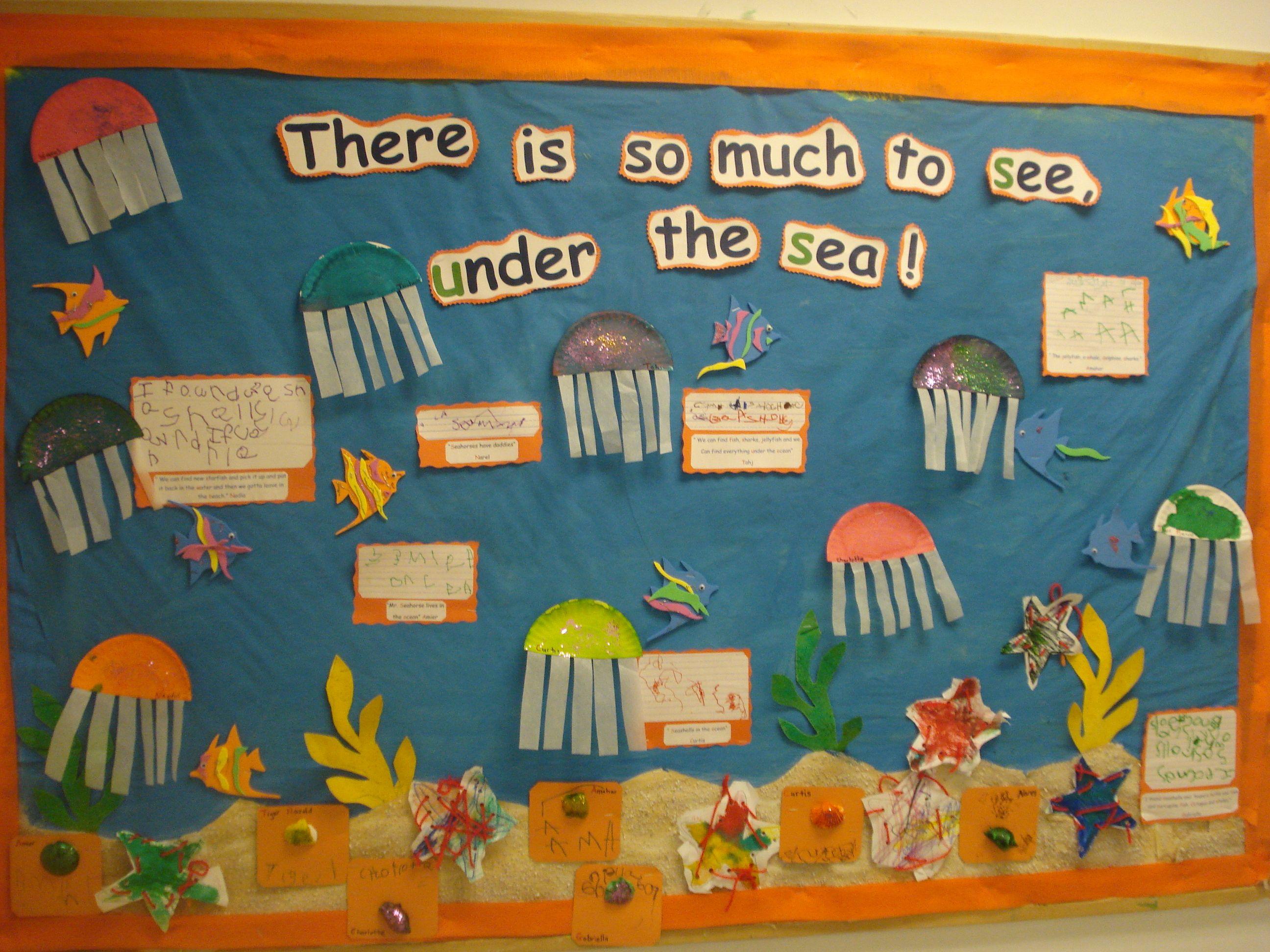 Ocean Themed Bulletin Board Ocean Theme Classroom Ocean