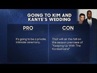 The Tonight Show Starring Jimmy Fallon: Dolly Parton, Taylor Kitsch: Pros and Cons: Attending Kim and Kanye's Wedding -- Ahead of the Kimye nuptials, Jimmy weighs the good and bad of being invited to the well-publicized soiree. -- http://www.tvweb.com/shows/the-tonight-show-starring-jimmy-fallon/season-1/dolly-parton-taylor-kitsch--pros-and-cons-attending-kim-and-kanyes-wedding