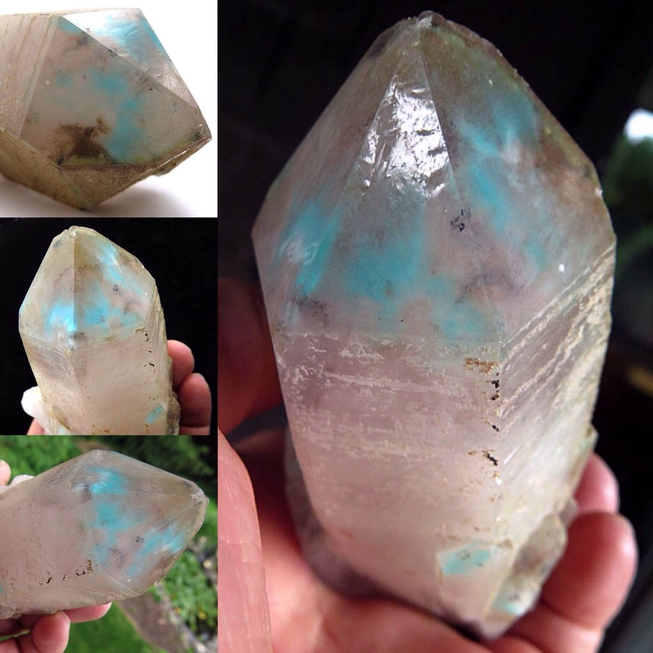 Ghminerals Price Mark Down This Large Ajoite Point Is A Down Gems And Minerals Stones And Crystals Crystals