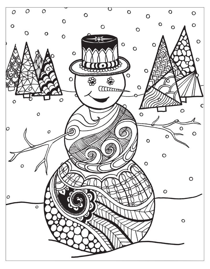 Winter Coloring Pages Coloring pages winter, Snowman