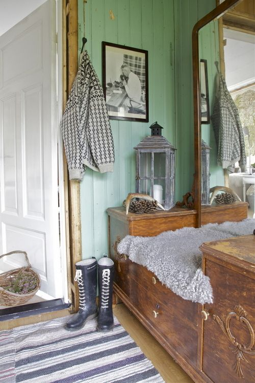 Sea foam wall house inside white wood rooms painting paneling also home mudroom rh pinterest