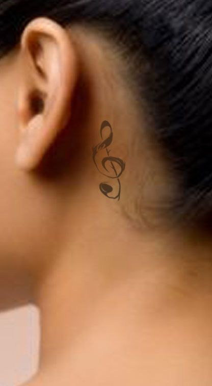 Pin By Rachel Neyens On We Laid A Lot Of Memories Down Like Tattoos On This Town Music Notes Tattoo Behind Ear Tattoos Note Tattoo