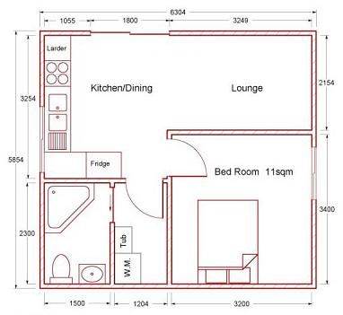 Small Flat Plan tiny house floor plans | sheds for habitation, small home kits