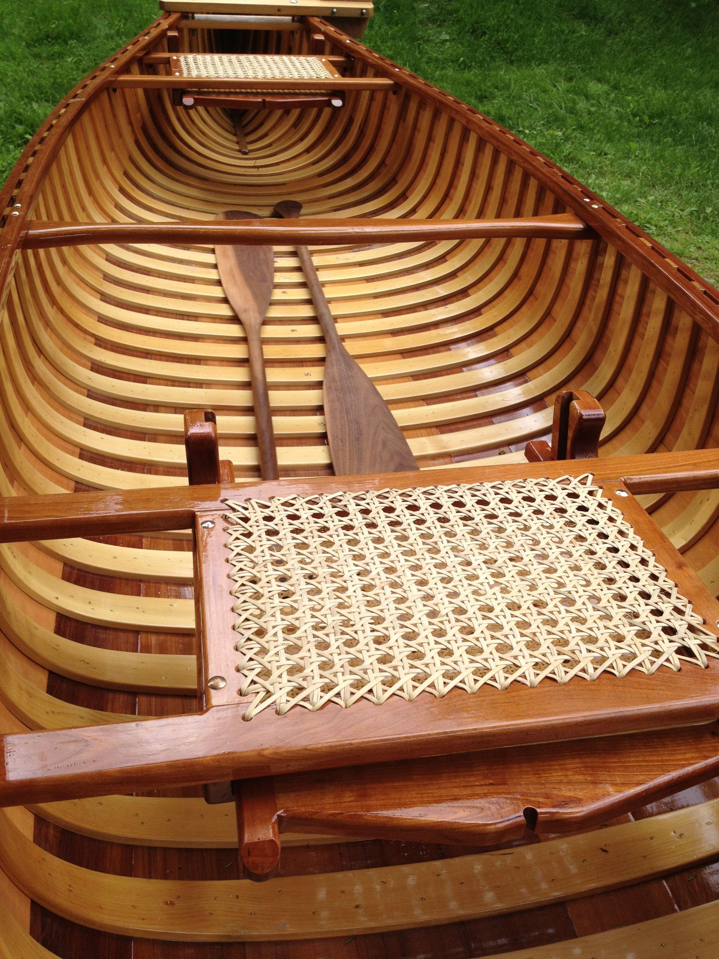 American canoe cedar strip white