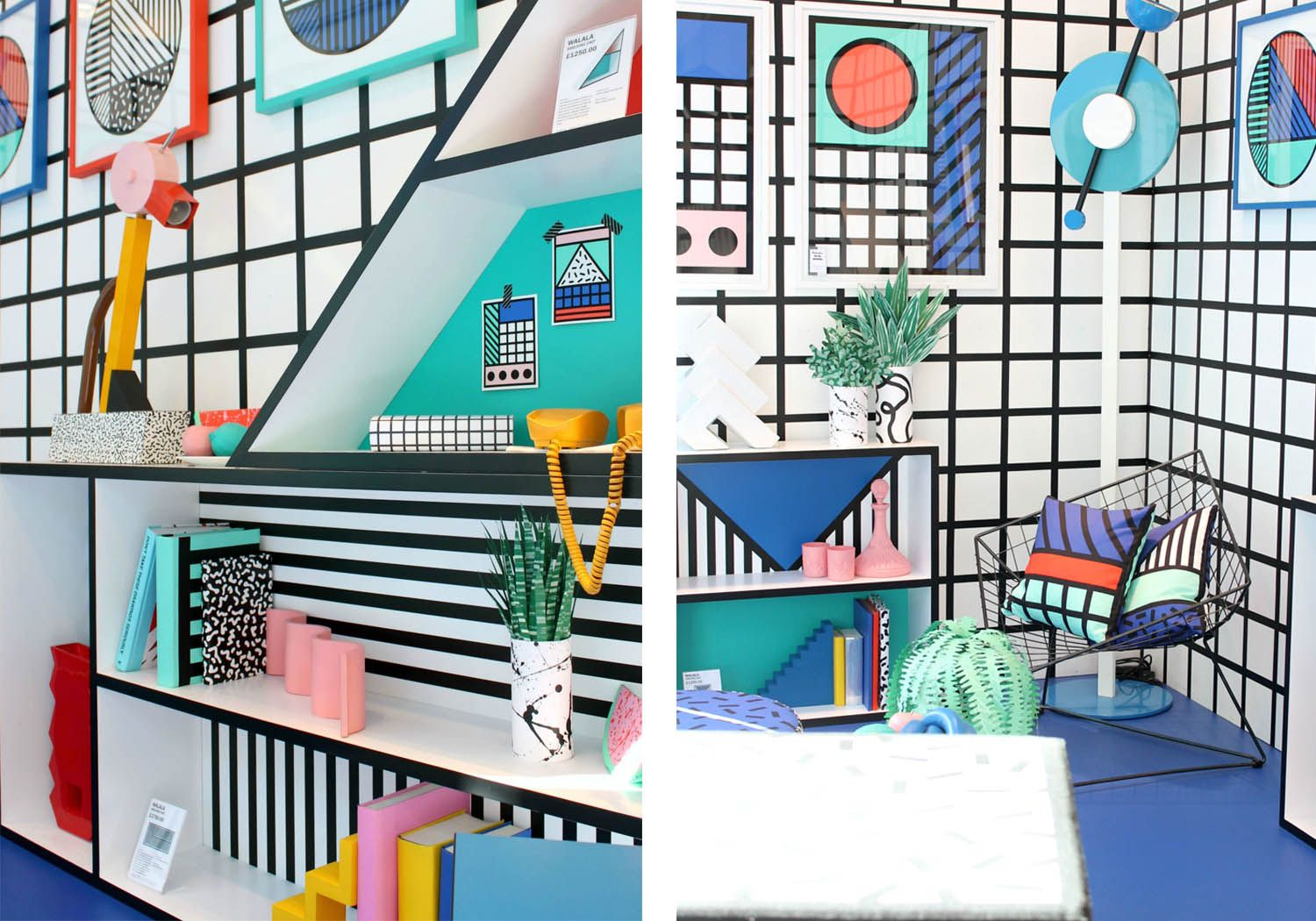 What is Memphis Design and Why Should I Care?, Laurel & Wolf, Photos via Creative Market, Camille Walala for Aria