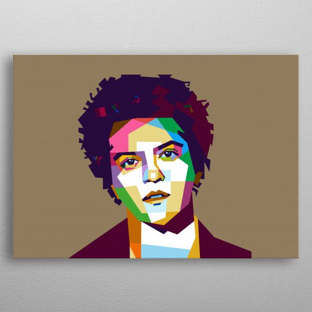 Bruno Mars by baturaja vector | metal posters - Displate | Displate thumbnail