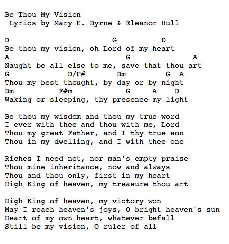 Be Thou My Vision Chord Charts Pinterest Guitars Guitar