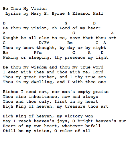 Be Thou My Vision | Chord Charts | Pinterest | Guitars, Songs and ...
