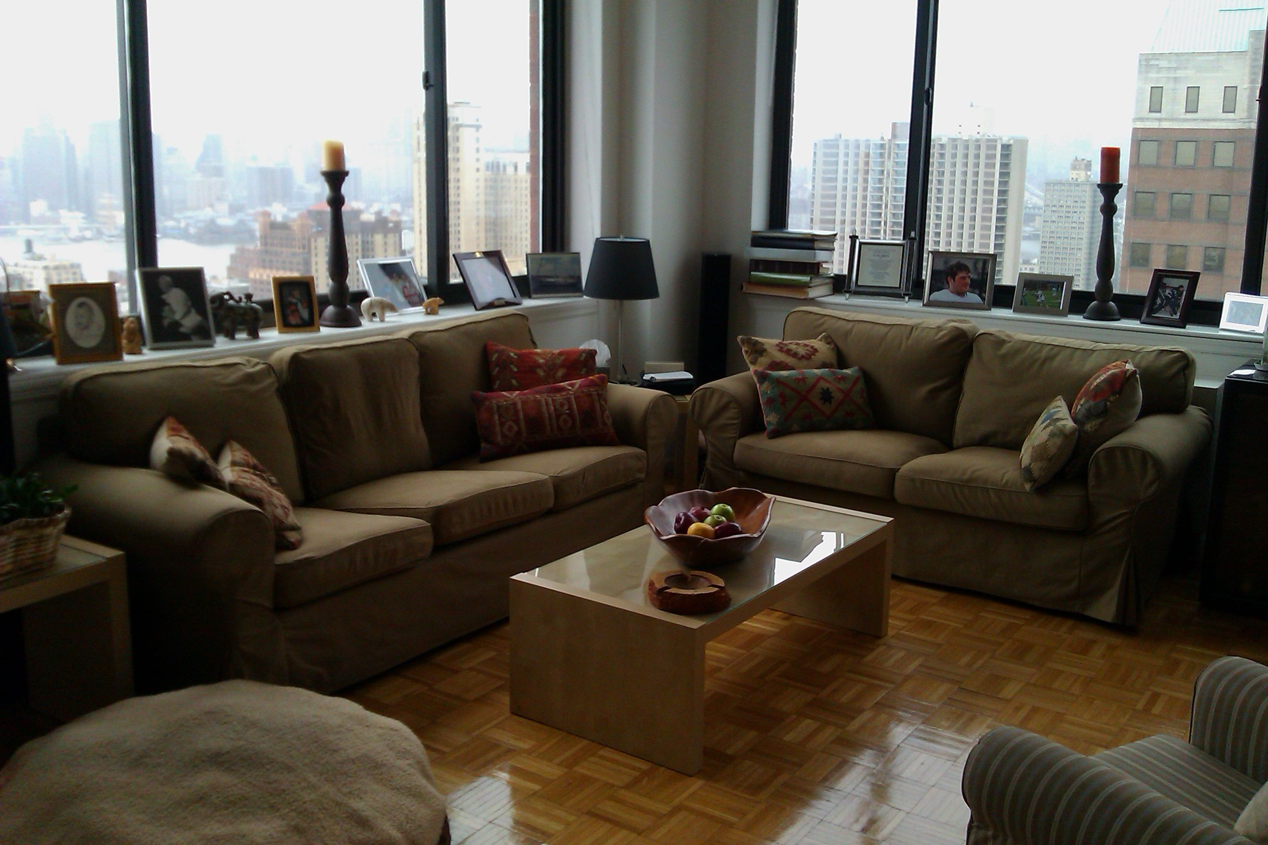 Ikea Living Room Design with Set Sfa Soft of Fabric ...