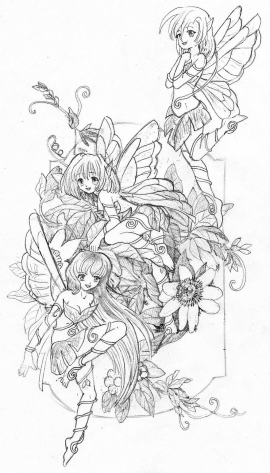 fairies sketch by real warner on deviantart faerie coloring