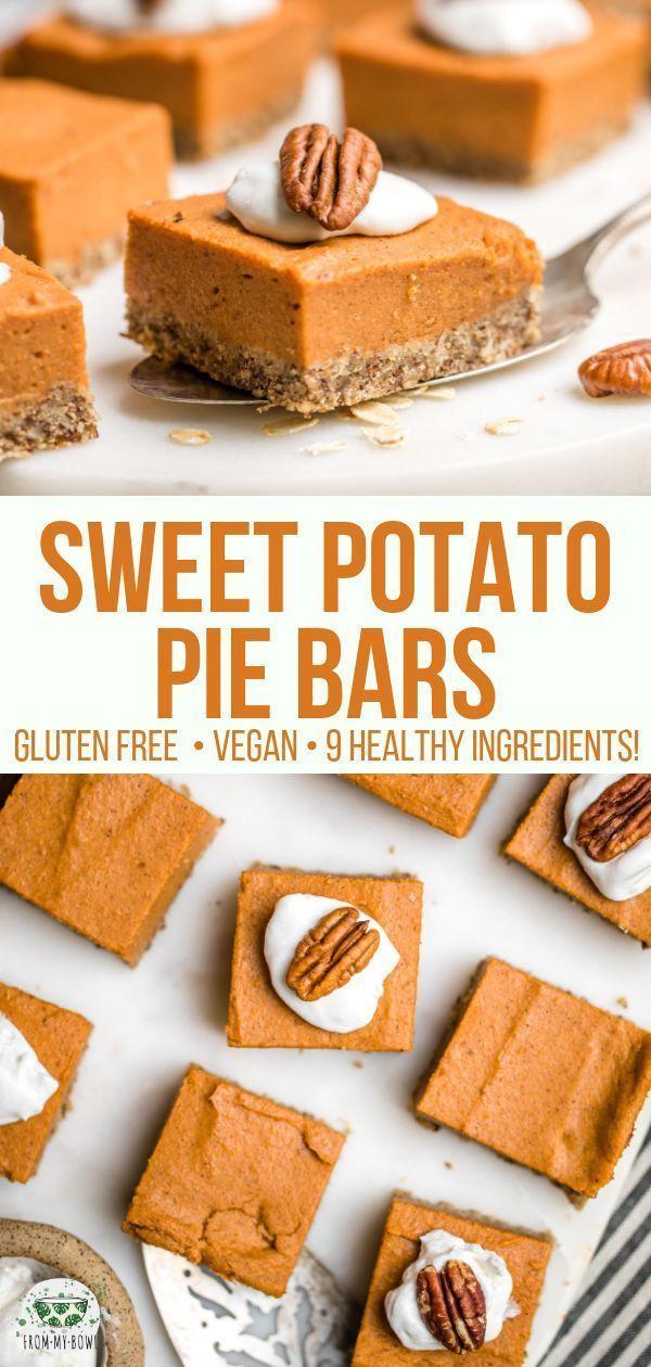 Photo of Sweet Potato Pie Bars (Gluten-Free & Vegan) – From My Bowl