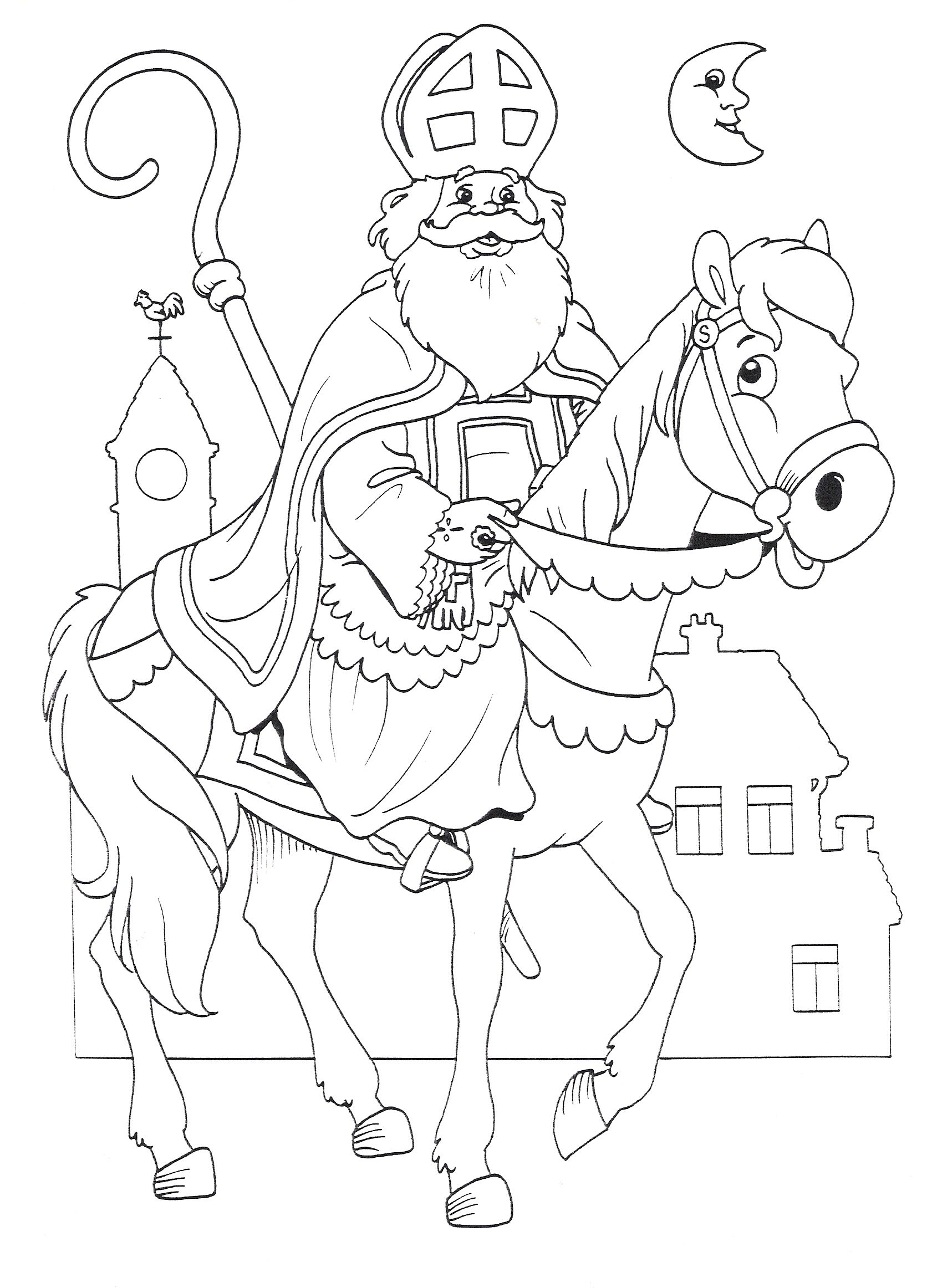 Pin By Hildegard Aigner On Sinterklaas Kleurplaten Free Christmas Coloring Pages Christmas Coloring Pages Painting Templates