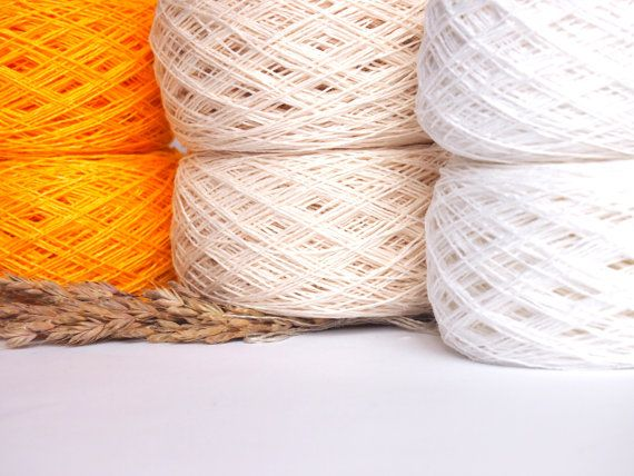 Linen Yarn For Crochet High Quality Knitting 6 Balls Natural Linen Yarn