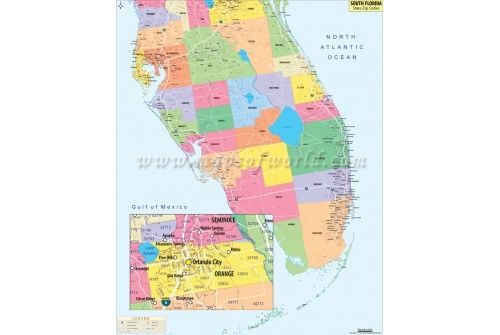 Zip Code Map Of Florida.Buy South Florida Zip Codes Map Online Store Mapsofworld