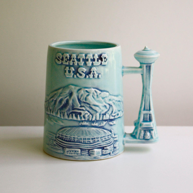 Vintage Seattle Souvenir Mug.