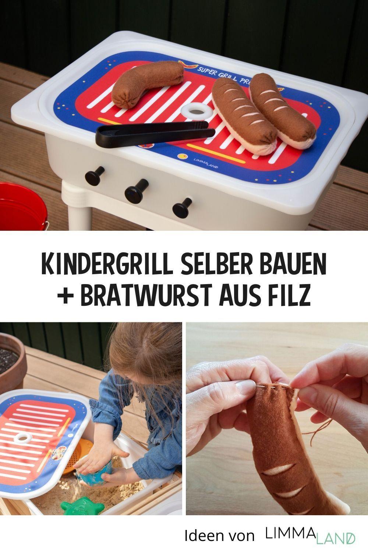 Einen Kindergrill selber bauen. Das geht am einfachsten