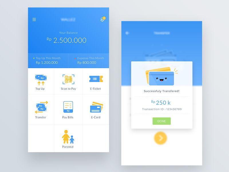 Wallet App Ui Design App App Ui Design App Ui