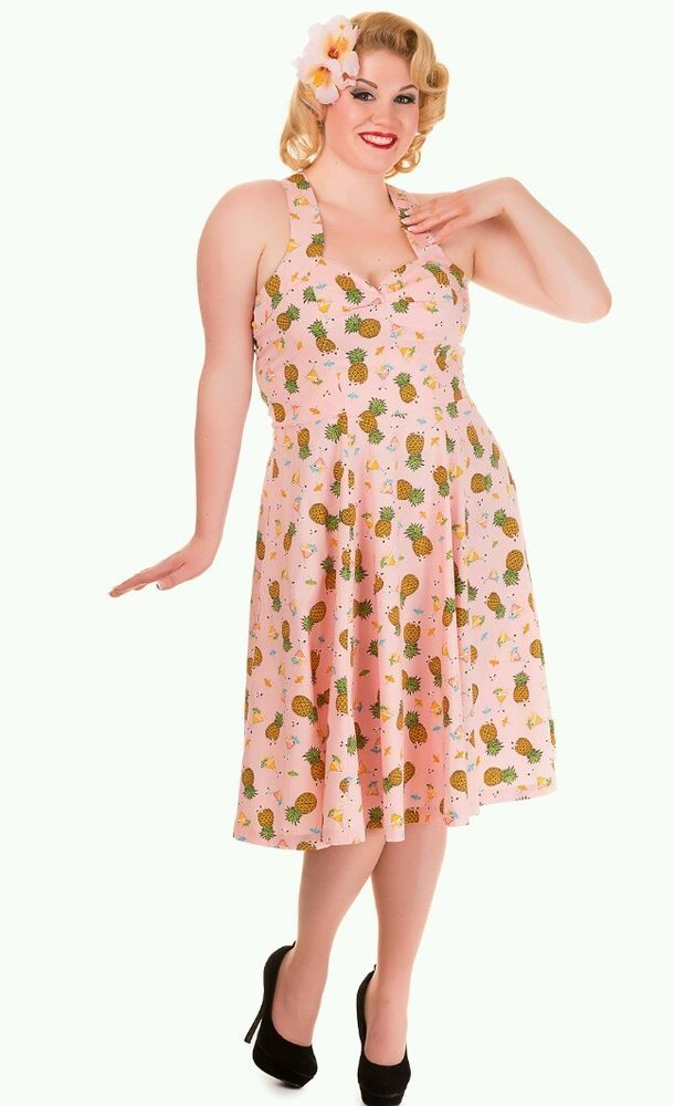Banned Pineapple Pinup Dress Plus Size 4X Size 18 | All ...