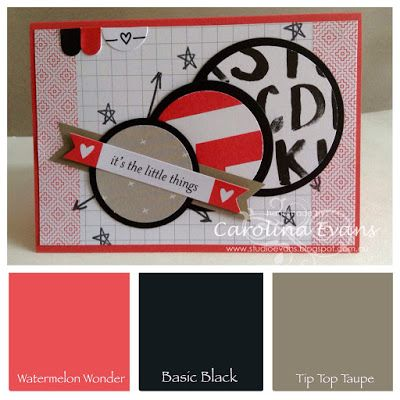 Project Life Moments Like These card using Stampin' Up! Products 2015 Carolina Evans #stampinup