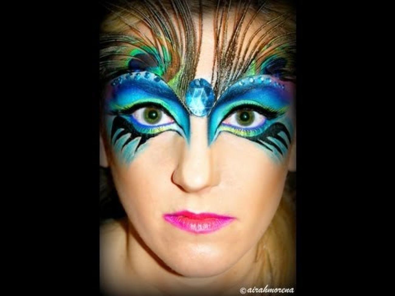 peacock masquerade makeup