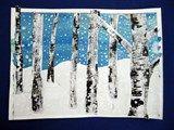 birch trees - winter landscape