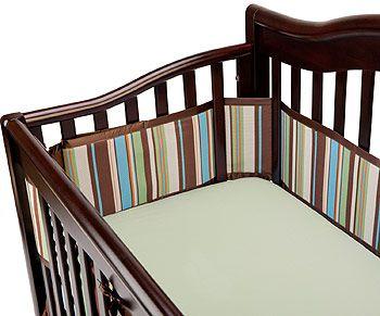 Breathablebaby Crib Bumper Multi Stripe Jungle