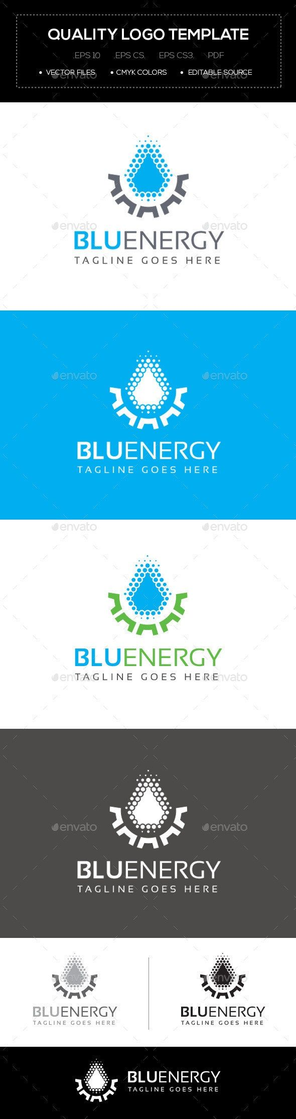 Blu Energy Logo Template Energy logo, Logo templates