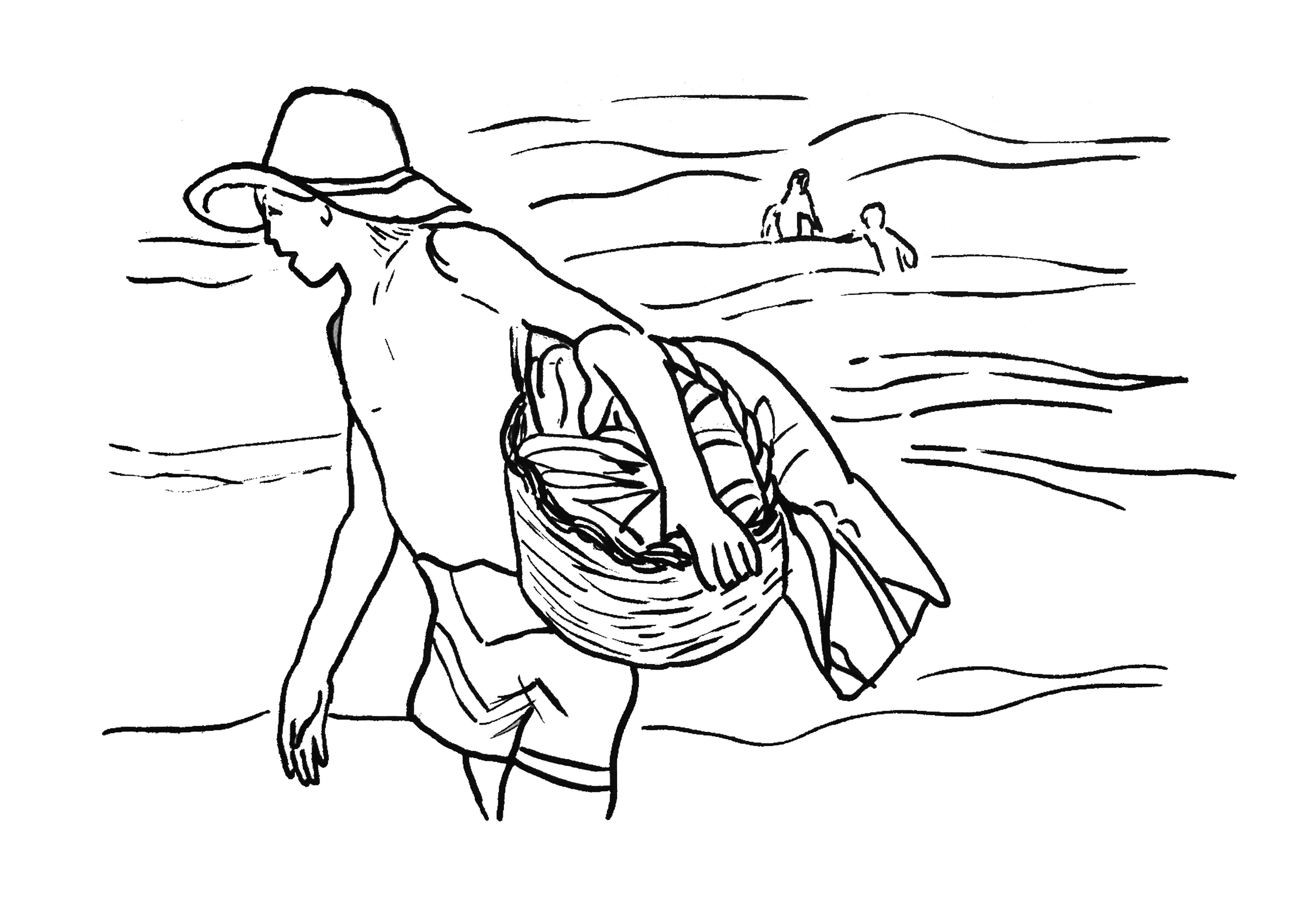 El Pescador Sorolla | Para colorear e ilustrar | Pinterest ...