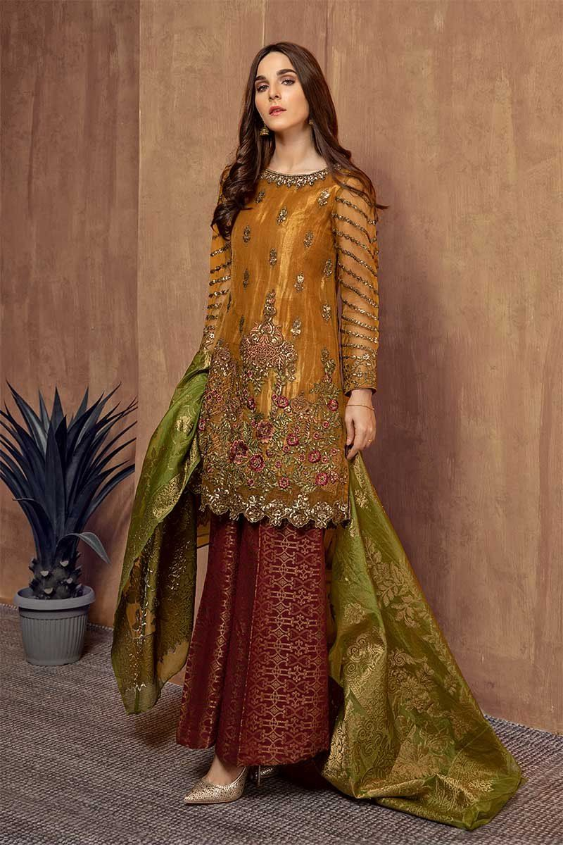 Formal winter party wear dresses maria b stitched
