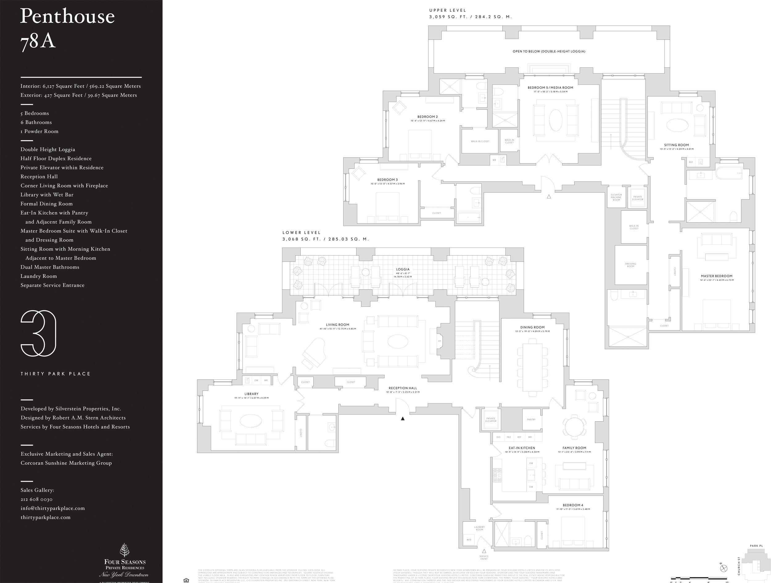 30 Park Place Reveals Sprawling New Penthouse