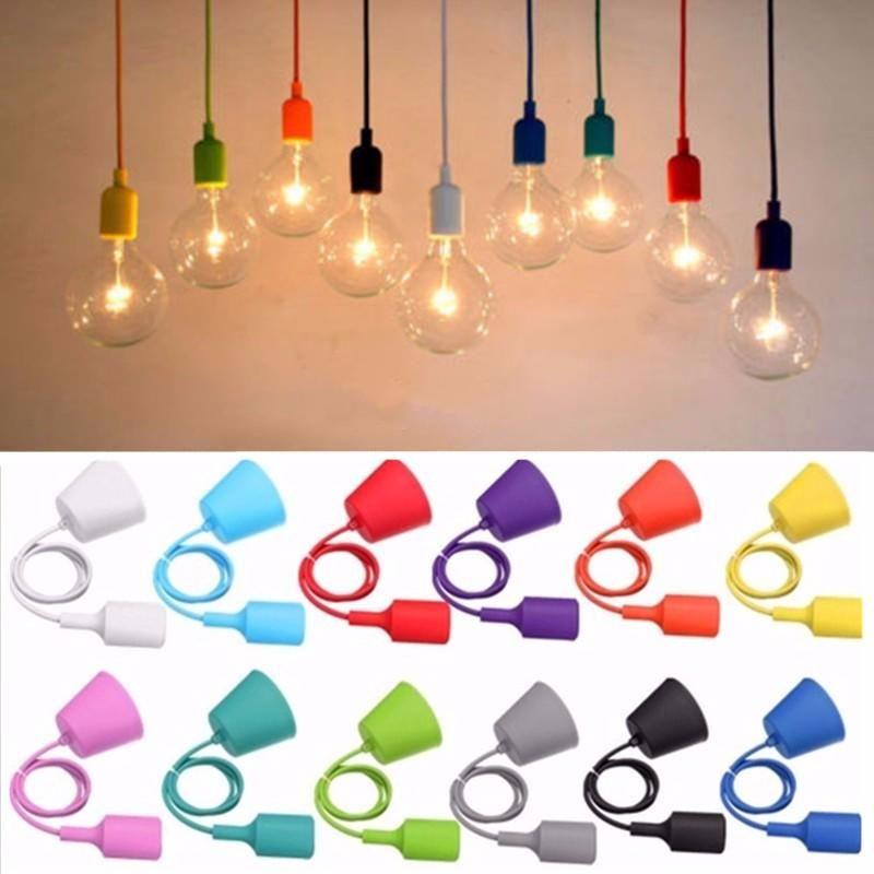 Colorful E27 Silicone Rubber Pendant Light Lamp Holder Socket Diy Sale Banggood Com Lamp Holder Lamp Light Pendant Light