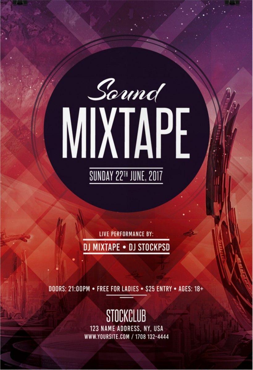 sound mixtape free psd flyer template free flyer template