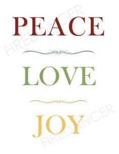 peace love and joy wall decals - Google Search