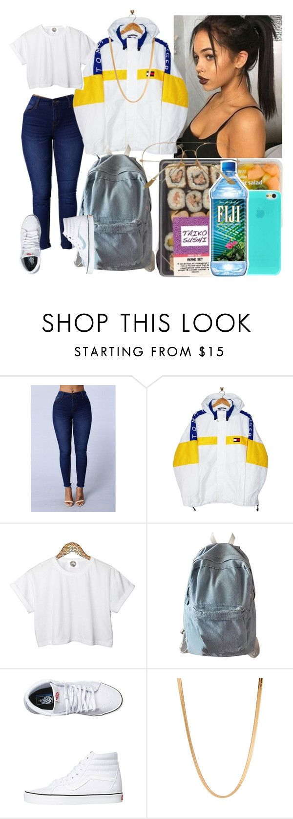 """💋"" by sheawkward ❤ liked on Polyvore featuring Tommy Hilfiger, CC, WithChic, Vans and ASOS"