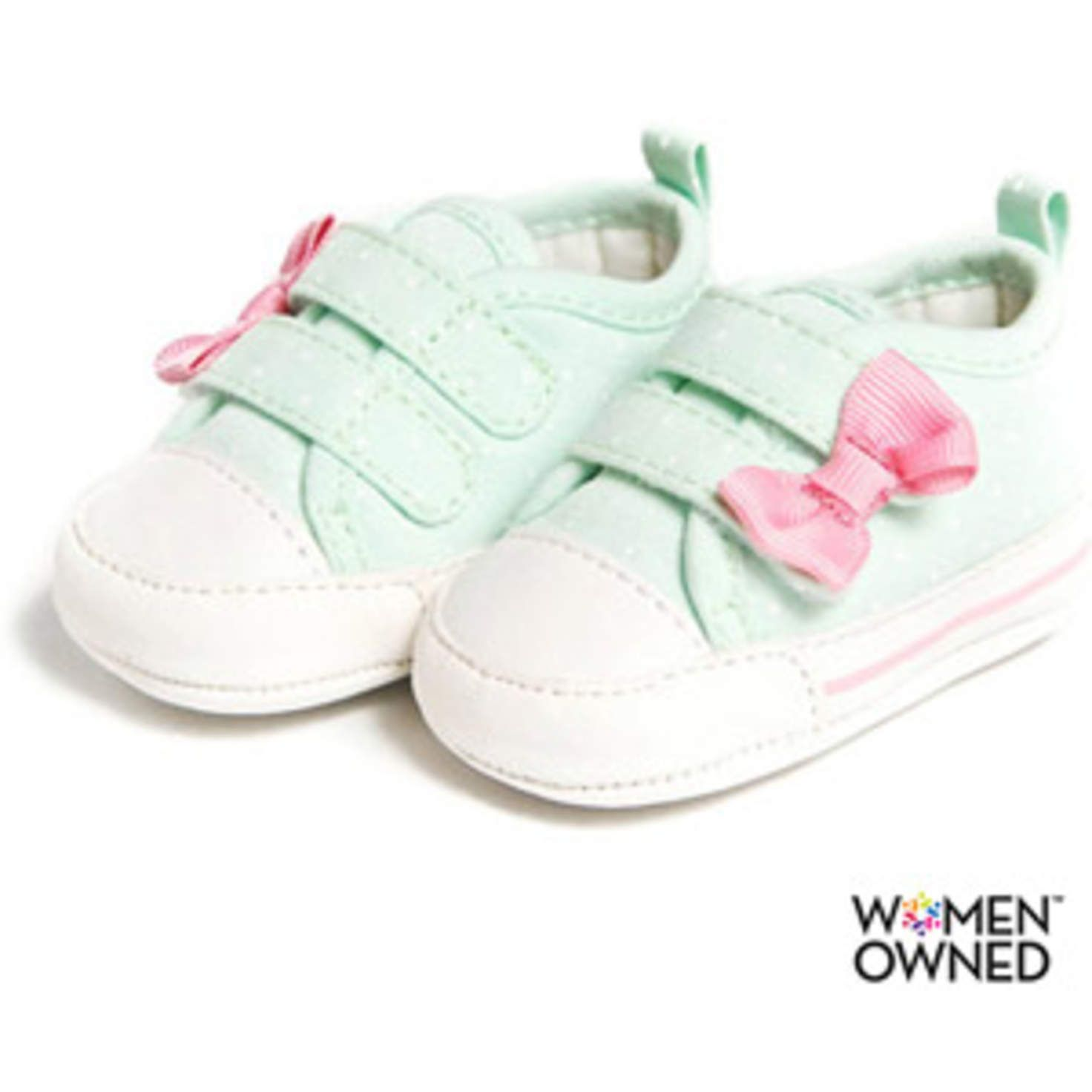 Walmart  Child of Mine by Carters Newborn Baby Girl Dot Sneakers ... a46f7c746874
