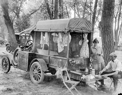 Foster /& Family from Dallas Texas 1920c 8x10 Photograph of Camper Dr