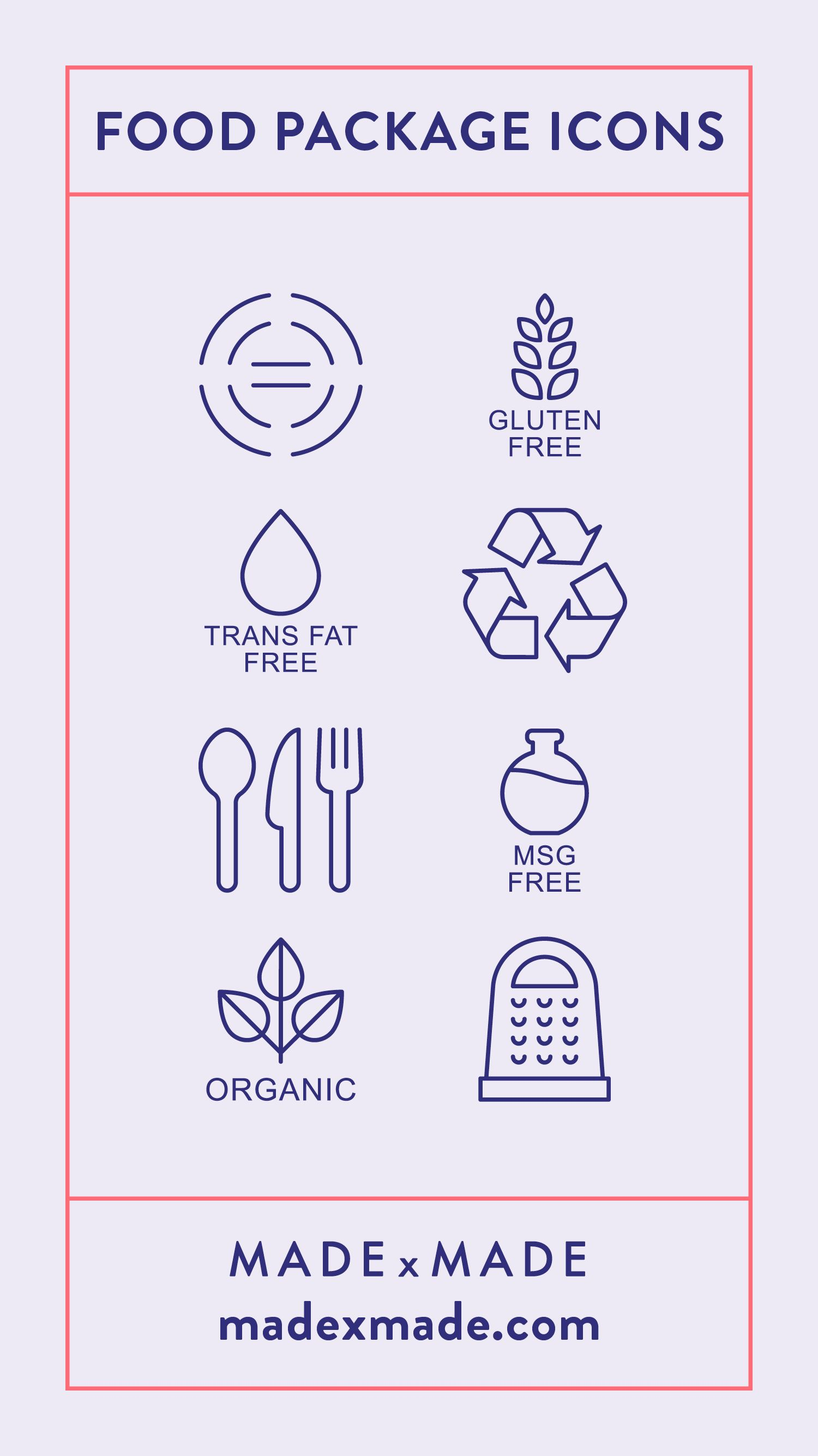 Pin by Made By Made on Food Packaging Vector Icons